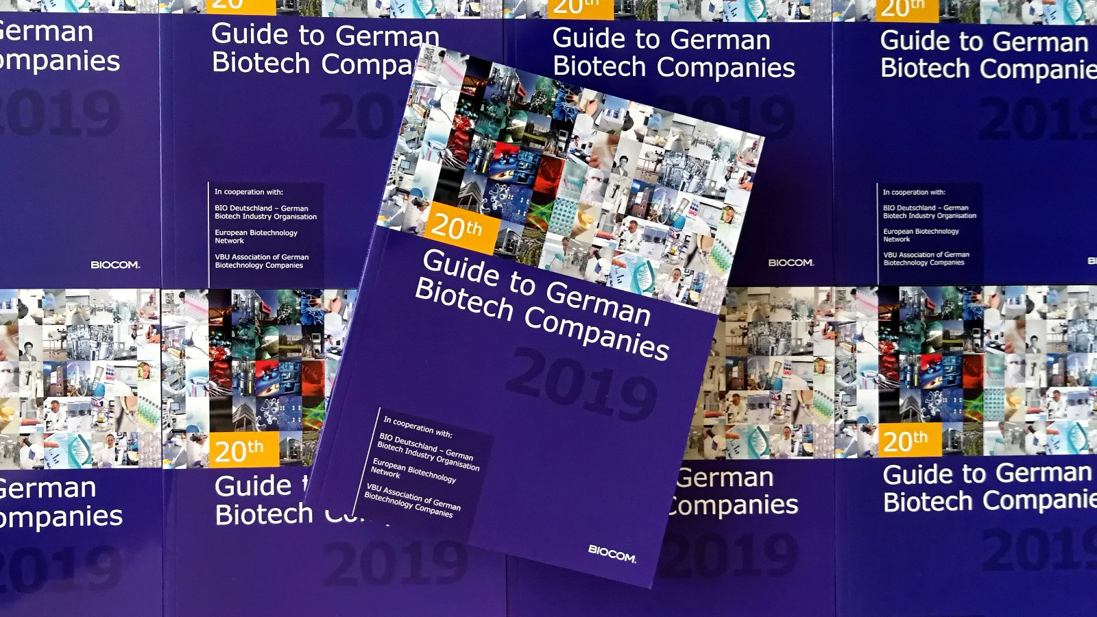 Das Cover des 20th Guide to German Biotech Companies 2019