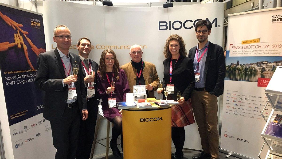 Das Team der BIOCOM auf der BIO-Europe 2018 in Kopenhagen.