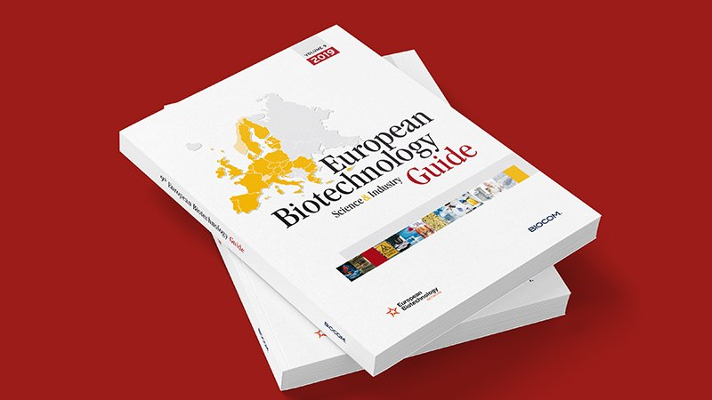Cover of the European Biotechnology Guide 2019